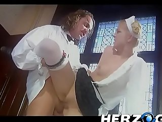 Count Dracula pounds the blonde maid