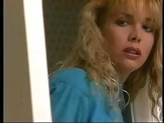 Naughty blonde Stephanie DuValle in blue dress is fond of watching furtively nympho Nikki Shane playing in the bathroom with Stephanie'_s friend