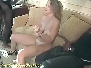 Creampie Cathy in Classic BBC Creampie Gangbang with Double Vag