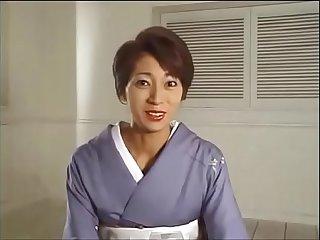 japanese kimono woman facesitting with interview